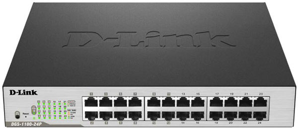 Половина портов коммутатора D-Link EasySmart DGS-1100-24P поддерживает PoE+