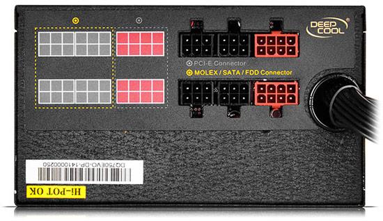 Габариты БП DeepCool Quanta DQ750 EVO равны 150 × 160 × 86 мм