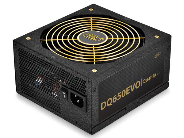 Блок питания DeepCool Quanta DQ650 EVO соответствует требованиям сертификата 80 Plus Gold