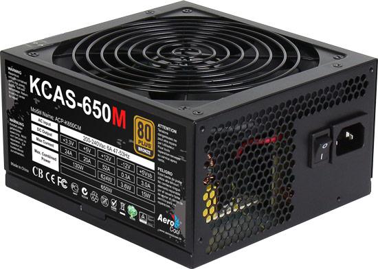 Блоки питания AeroCool KCAS М мощностью от 650 до 1000 Вт оснащены модульными кабельными системами