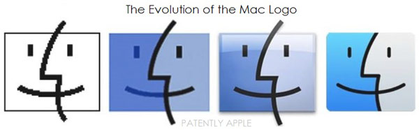 Заявки поданы на цветной и черно-белый варианты логотипа Apple Mac Logo