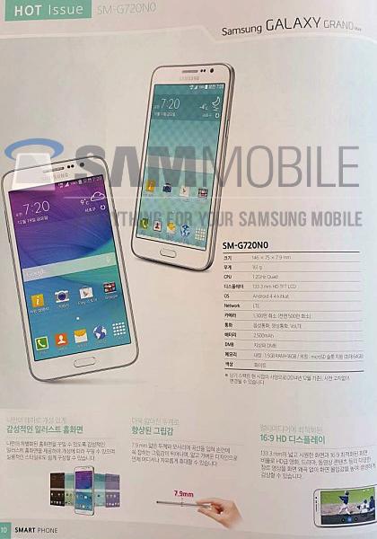 Смартфон Galaxy Grand Max в буклете Samsung