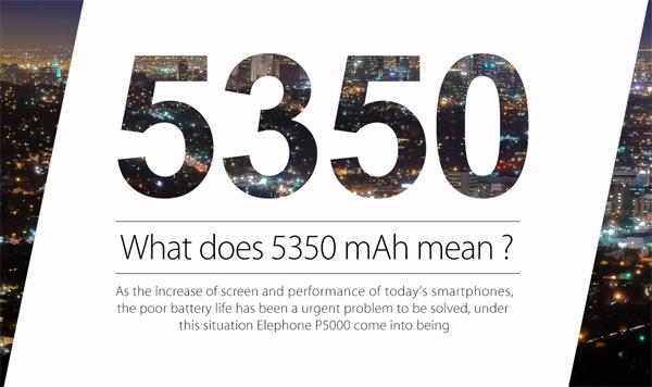 Elephone P5000 получил АКБ внушительной емкости