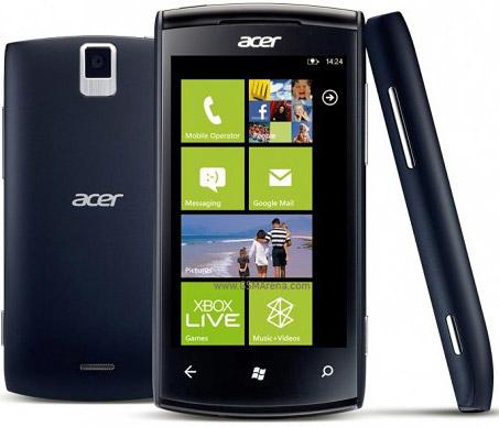 Acer вновь начнет выпуск смартфонов на базе ОС Windows Phone