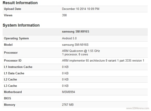 Samsung Galaxy Note 4 Snapdragon 810