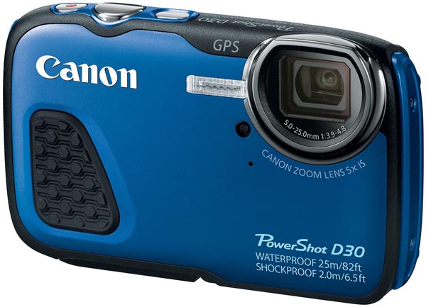 Камера Canon PowerShot D30 будет доступна в синем варианте цветового оформления