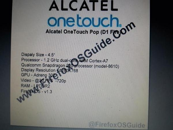 Alcatel One Touch POP (D1 Fire)