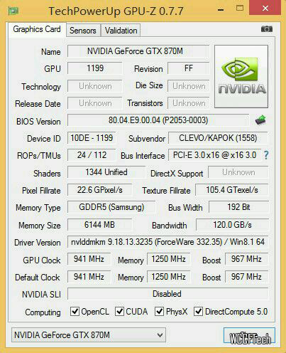GeForce GTX 870M Maxwell
