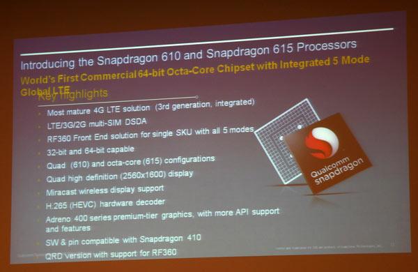������� Qualcomm Snapdragon 610 � 615 ��������� ��������� Snapdragon 600