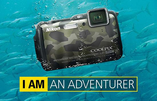 Камера Nikon Coolpix AW120, оснащенная приемником GPS, выдерживает погружение на глубину до 18 метров