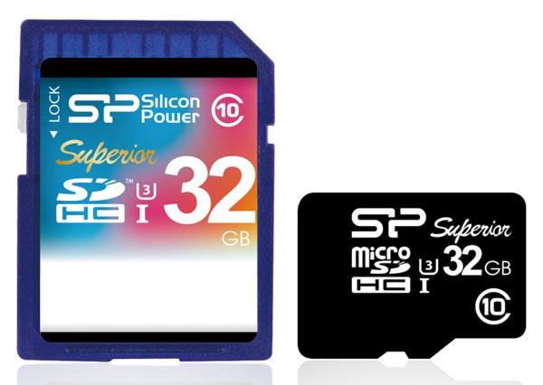 В режиме чтения карточки памяти Silicon Power Superior UHS-1 (U3) развивают скорость до 90 МБ/с