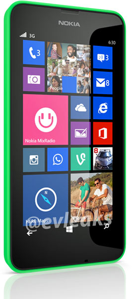Nokia Lumia 630 имеет дисплей размером 4,3 дюйма разрешением WVGA