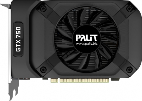 Модель Palit GTX750 Ti StormX Dual отличается наличием двух 80-миллиметровых вентиляторов