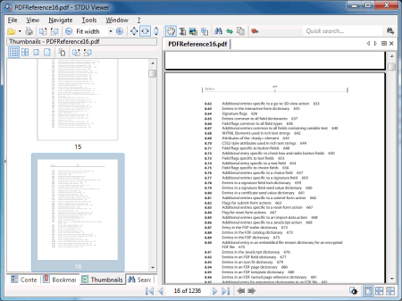Интерфейс программы STDU Viewer