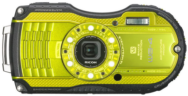 ������ Ricoh WG-4 � WG-4 GPS ����������� ���������� �� ������� �� 14 ������ � ������� � ������ �� 2 ������