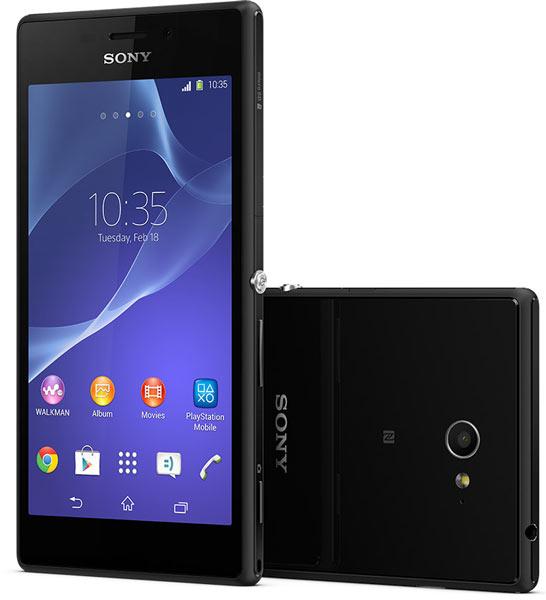 Внешний вид Sony Xperia M2 выдержан в том же стиле, что и внешний вид новой флагманской модели