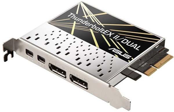 Серия включает модель ThunderboltEX II с одним портом и модель с двумя портами ThunderboltEX II Dual