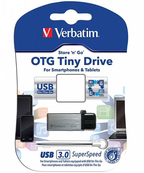Доступны накопители Verbatim OTG Tiny Drive объемом 8, 16 и 32 ГБ