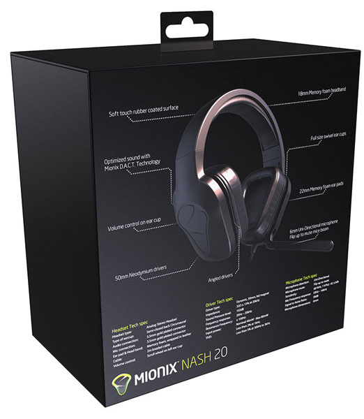 Цена Mionix Nash 20 — $130