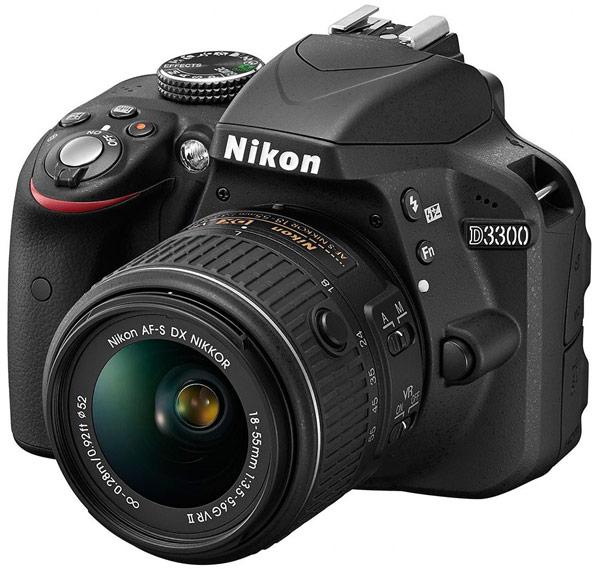 Зеркальная камера Nikon D3300 с объективом AF-S DX Nikkor 18–55mm f/3.5–5.6G VR стоит $650