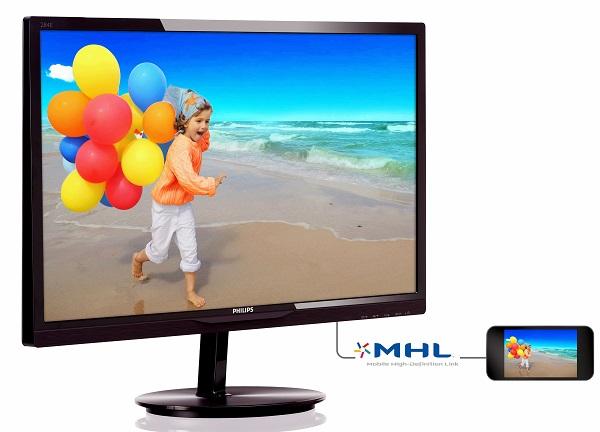 Монитор Philips 284E5QHAD построен на базе ЖК-панели MVA диагональю 28 дюймов