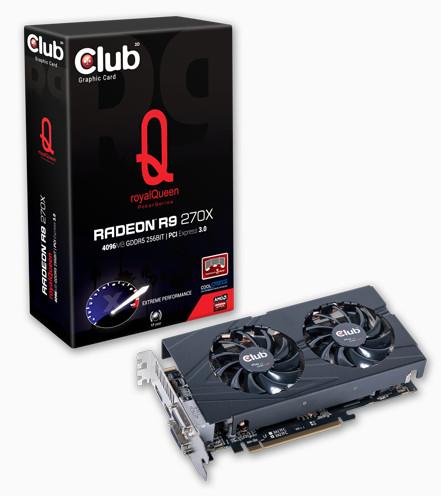 Новые модели 3D-карт Club 3D Radeon R9 270X тоже принадлежат серии royalQueen