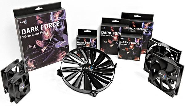 Время средней наработки на отказ вентиляторов AeroCool Dark Force — 20 000 ч