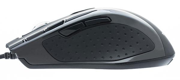 Мышь Shrike H2L Black Edition отличается резиновым покрытием, черным цветом и улучшенной подсветкой