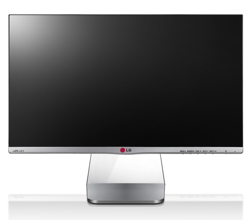 Дисплей монитора LG Cinema Screen (24MP76HM-S) обрамляет тонкая рамка толщиной 5,6 мм