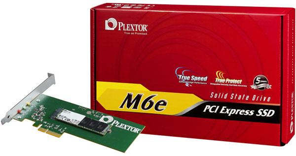 Твердотельный накопитель Plextor M6e выполнен в виде карты расширения PCIe