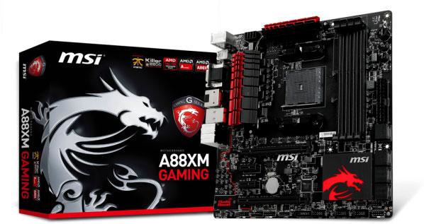 Начались продажи системных плат MSI A88X-G45 Gaming и A88XM Gaming с процессорными разъемами AMD FM2+
