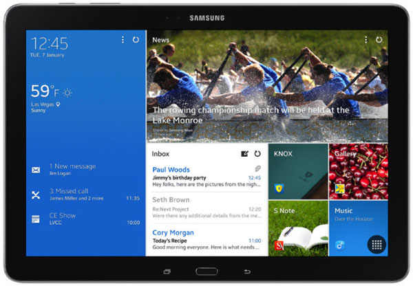 Планшет Samsung Galaxy Tab Pro 12.2 отличается от Samsung Galaxy Note Pro 12.2 отсутствием пера S Pen