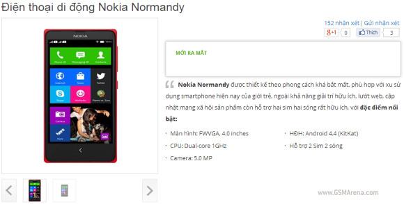 Данных о цене и сроке начала продаж Nokia Normandy пока нет