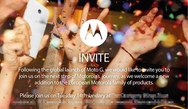 Motorola приглашает на мероприятие 14 января