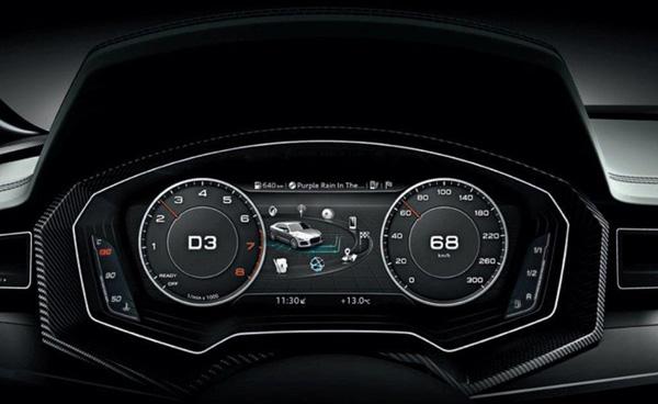 Экран в приборной панели Audi TT