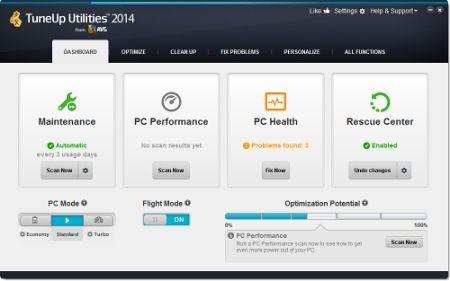 Скриншот программы TuneUp Utilities 2014