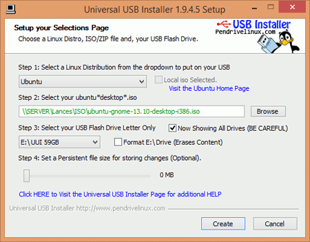 Скриншот Universal USB Installer от Neowin.net