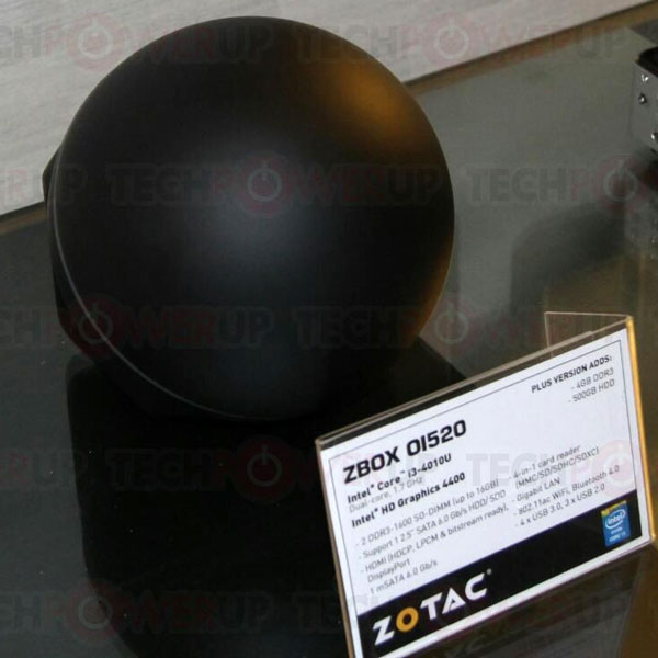 Мини-ПК Zotac Zbox O1520 имеет форму сферы