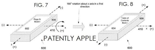 Активным в электронной книге Apple является дисплей, повернутый в данный момент к пользователю