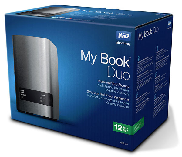 � ����� ������ WD My Book Duo ������������ �� ���������� USB 3.0