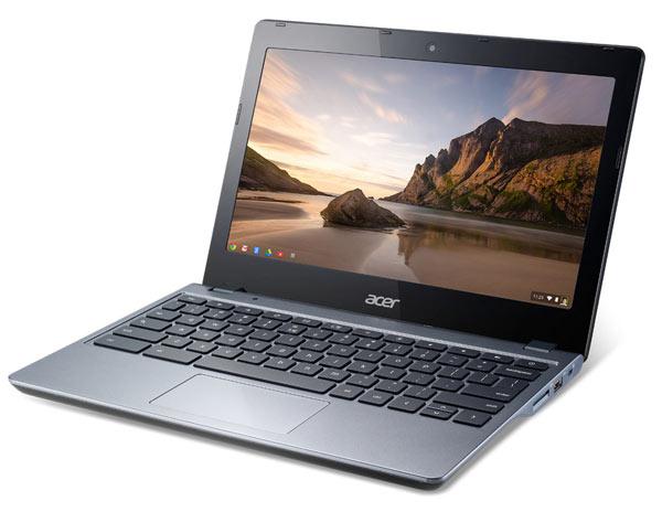 Acer занимает 46,7% рынка мобильных компьютеров с Chrome OS