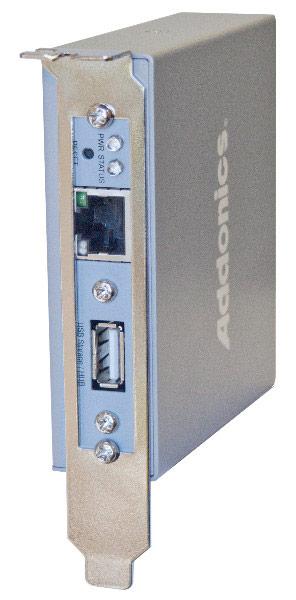 Addonics Internal GigaNAS Adapter имеет два порта SATA и по одному порту USB и Gigabit Ethernet