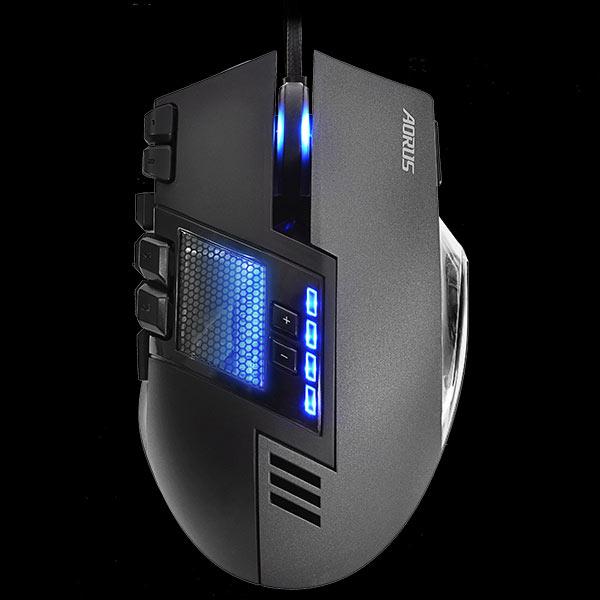 В мыши Aorus Thunder M7 используется лазерный датчик разрешением 8200 точек на дюйм