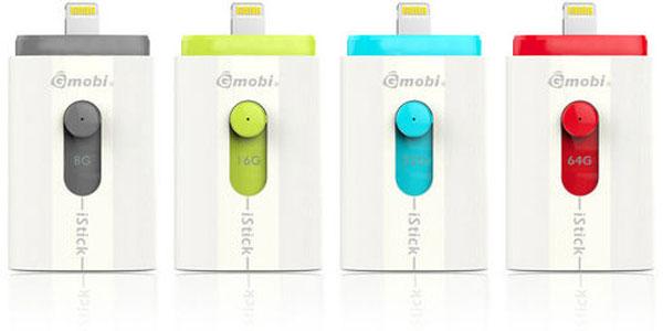 Интерфейс Lightning позволяет подключать PQI Gmobi iStick напрямую к мобильным устройствам Apple