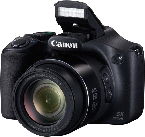 Основой камеры Canon PowerShot SX520 HS Объектив служит датчик изображения типа CMOS формата 1/2,3 дюйма