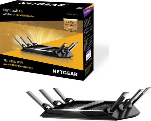 Маршрутизатор Netgear Nighthawk X6 поддерживает сети IEEE 802.11n и 802.11ac