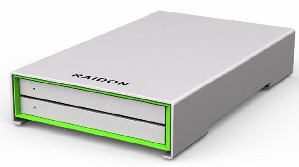 Шасси Raidon GR2660-B3 рассчитано на два накопителя типоразмера 2,5 дюйма