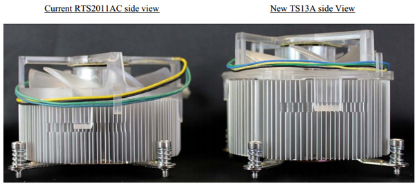 TS13A в сравнении с предшественником RTS2011AC