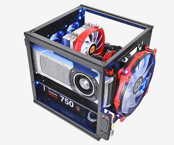 ������� ������� Thermaltake Core V1 ����� 276 x 260 x 316 ��