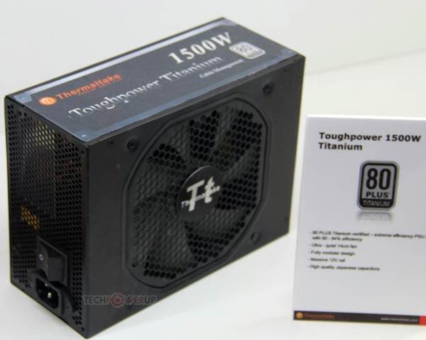 ���� ������� Thermaltake Toughpower Titanium 1500W ��������� 1500 �� ����� ���������� 80 Plus Titanium